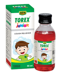 NEW TOREX JUNIOR COUGH SYRUP